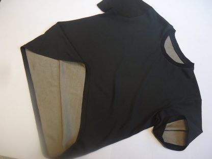 EMF Protection Black T shirt with silver lining