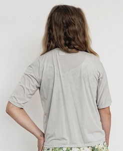EMF Protection Bamboo and Silver short Sleeve back