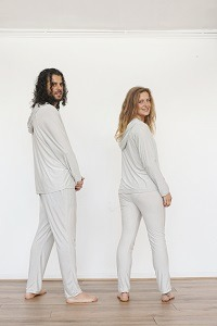 EMF Protection Bamboo and Silver Hoodie and Leggings back
