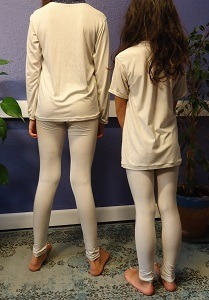 EMF Protection Childs leggings bamboo and silver back