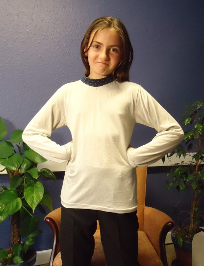 Kids silver and bamboo EMF long sleeved shirt