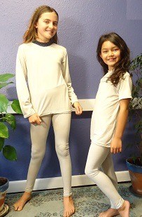 EMF Protection Childs leggings bamboo and silver